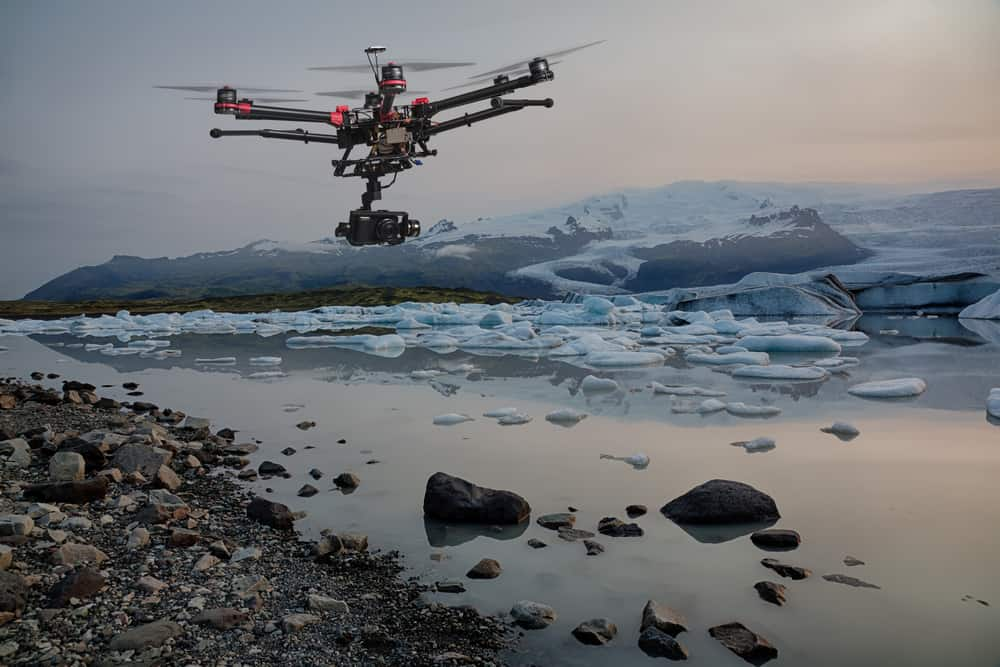 UAV surveys an iceberg