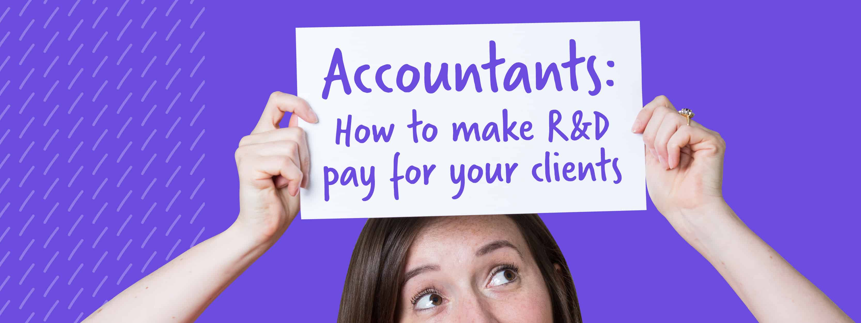 R&D sign for accountants