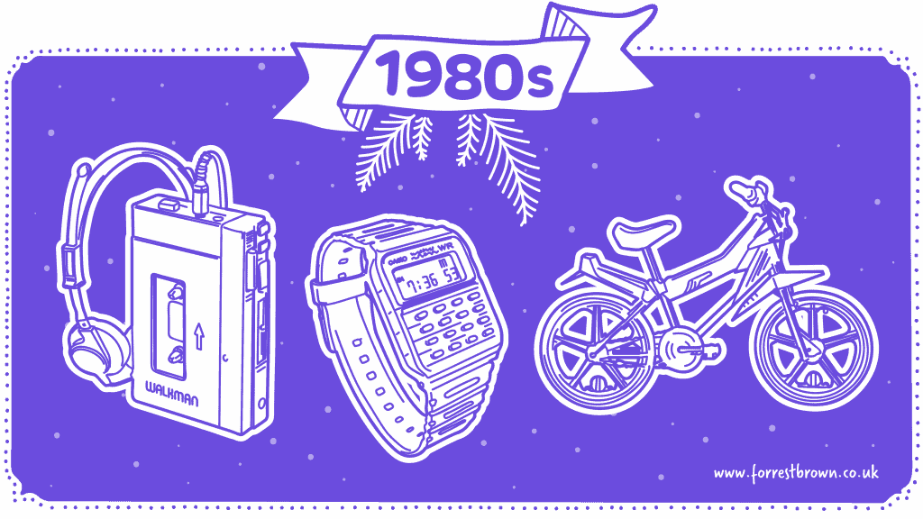 Tech gifts from 1980s