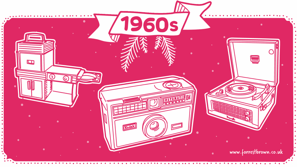 Tech gifts from the 1960s illustration